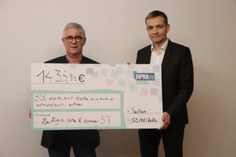 [ DON ] Les HPMETZ remettent 1435€ à la Ligue Contre le Cancer